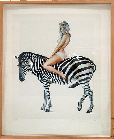 , 'Girl on a Zebra,' 1981, David Lawrence Gallery