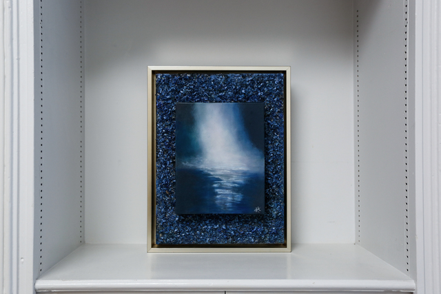 Arica Hilton, 'Reflet', 2020, Mixed Media, Mixed Media Oil on Canvas with Recycled Plastic, Hilton Asmus