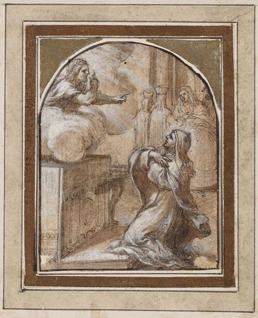 , 'Saint Therese kneeling before Christ,' ca. 1653, Artur Ramon Art