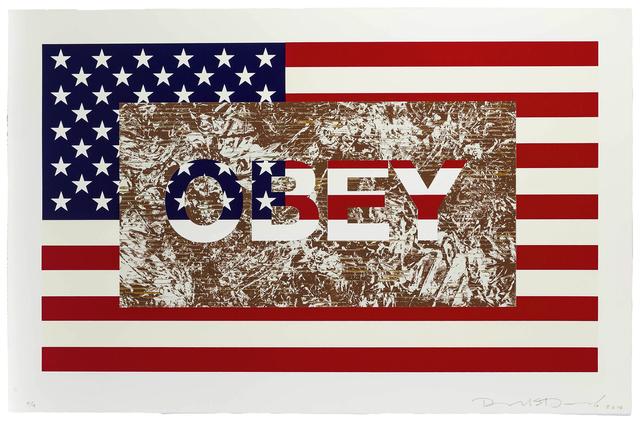 Richard Duardo, 'Obey (from the Flag Series)', 2012, John Moran Auctioneers
