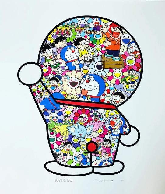 Takashi Murakami, 'M. FUJIKO, F. FUJIO AND DORAEMON ARE IN THE FIELD OF FLOWERS ', 2019, Print, Dope! Gallery