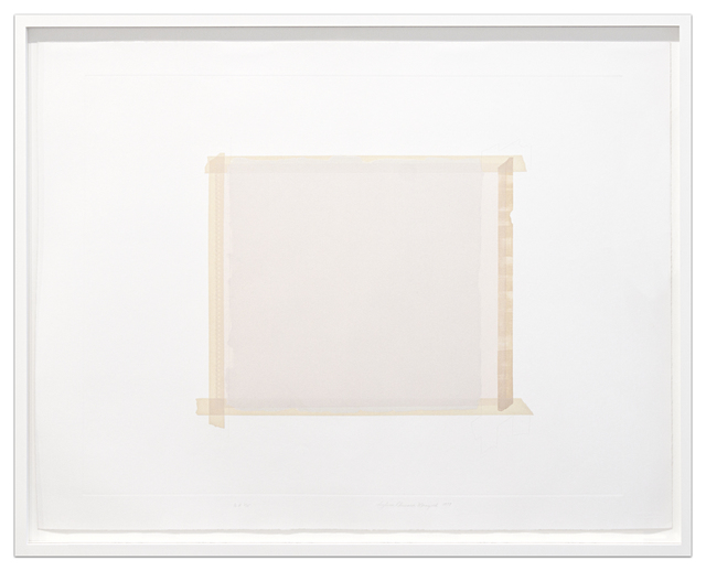 Sylvia Plimack Mangold, 'Paper Under Tape, Paint Over Paper', 1977, Krakow Witkin Gallery