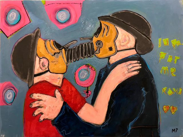 Morrison Pierce, 'Gas Mask Lovers 2021', 2021, Painting, Acrylic on canvas, McVarish Gallery