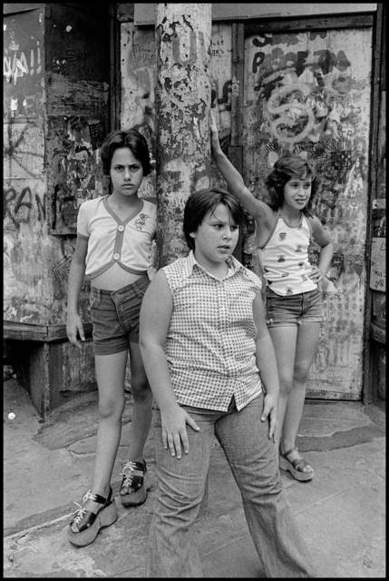 , 'JoJo,-Carol-and-Lisa-on-the-corner-of-Prince-and-Mott-streets,-Little-Italy-NYC,' 1978, Galerie Catherine et André Hug