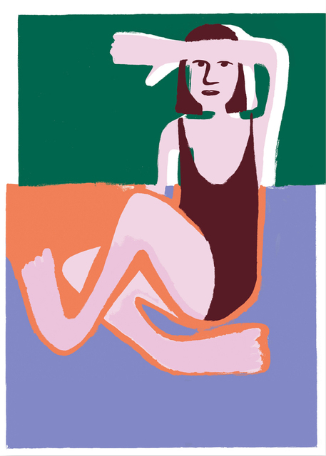 Coline Marotta, 'I Hope I Am Not Too Lazy to Become a Painter', 2018, Print, Silkscreen print, V1 Gallery