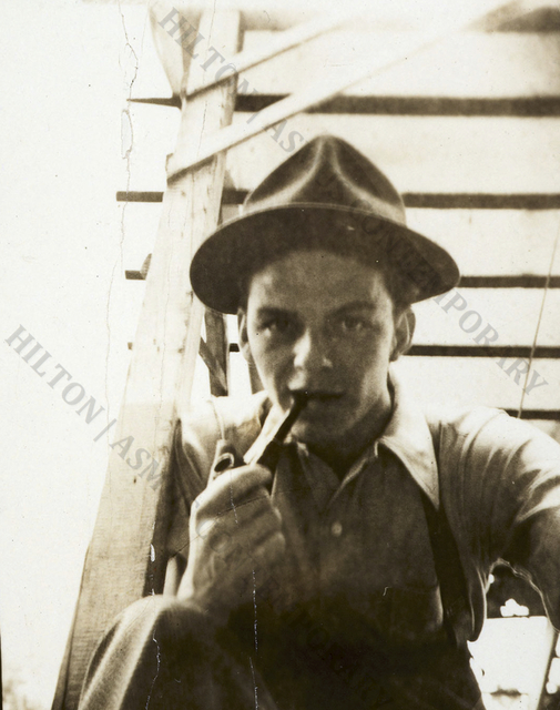 """, 'Frank Sinatra - """"Selfie"""" on the stairs ,' Late 1930s, Hilton Asmus"""