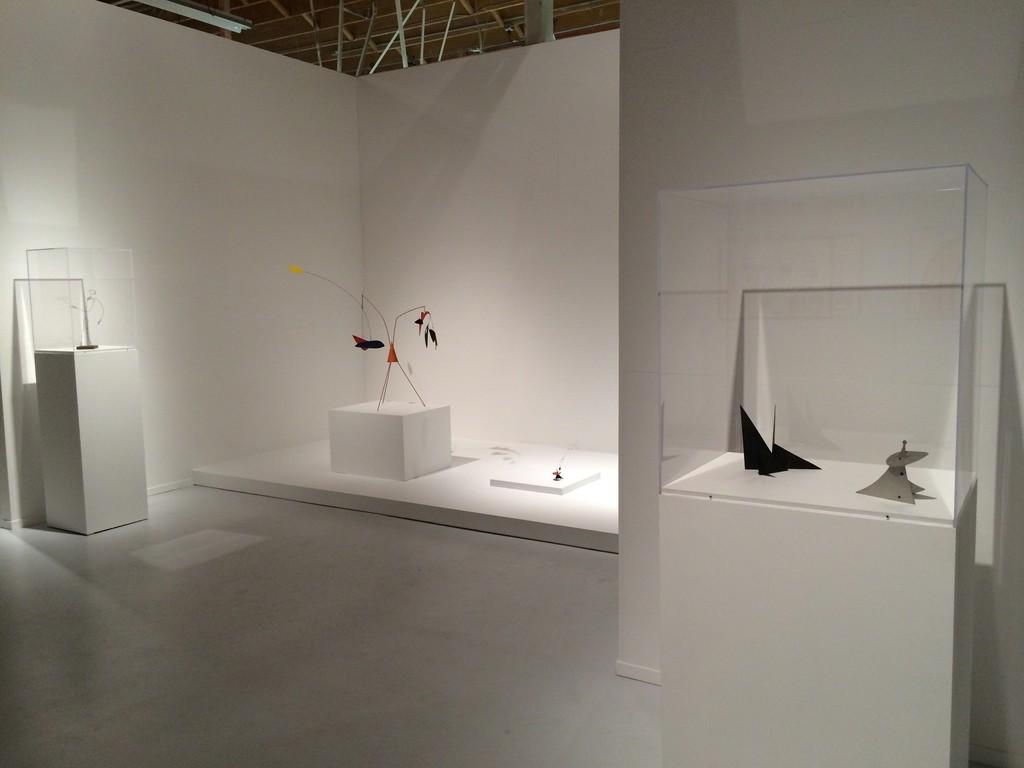 "Installation view, ""Alexander Calder: The Art of Invention,"" Pace, Menlo Park, 2014."