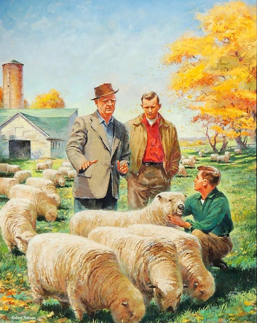 Robert Addison, 'Country Gentleman Magazine Cover', 1953, The Illustrated Gallery