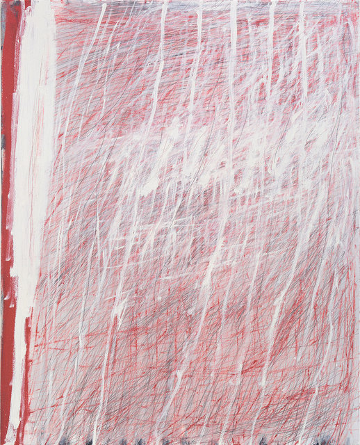 , 'Red and White Linear,' 2016, Flinders Lane Gallery