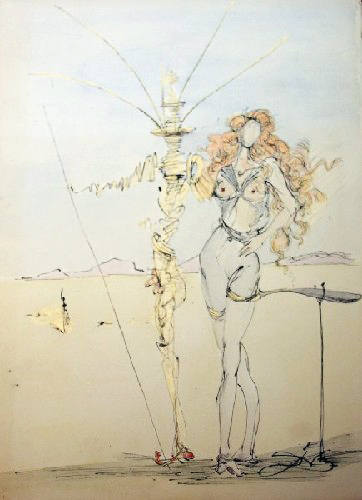 Salvador Dalí, 'La Femme aux Cheveus d'or et son Garde, 1967', 1967, New River Fine Art