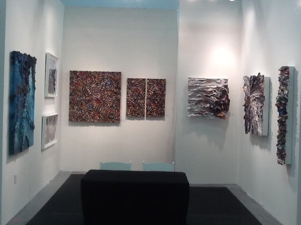 Elisa Contemporary Art at Art on Paper, 2015.  Booth 115.  Featuring the Dimensional Paper artwork of Amy Genser, Don Morris and Adriana Rostovsky