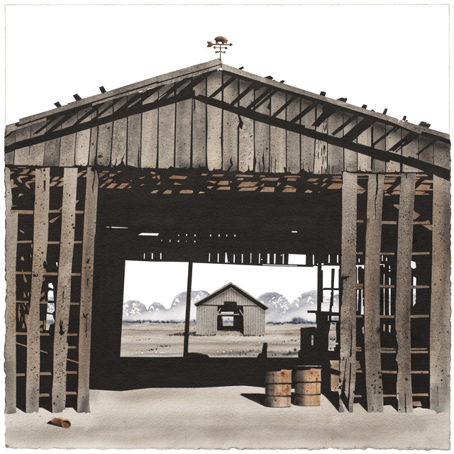 , 'Madison County Barn with Barrels,' 2017, Friesen Gallery
