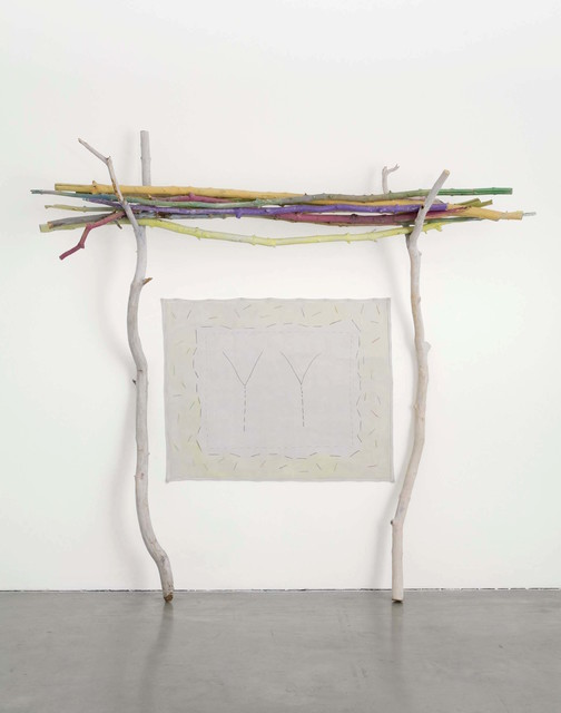 Ree Morton, 'Untitled', 1971-1973, Installation, Wood painted with pastel and acylic, drawing on canvas, Museo Reina Sofía
