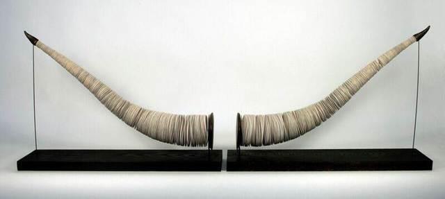 , 'Tusks (diptych),' 2017, International Sculpture Center