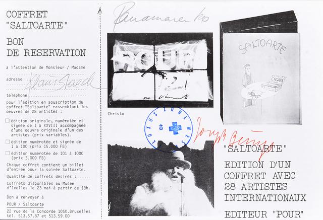 Joseph Beuys, 'Saltoarte - Reservation Voucher', 1975, Millon Belgium
