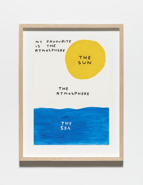 , 'Untitled (My favourite is the atmosphere),' 2019, Galleri Nicolai Wallner