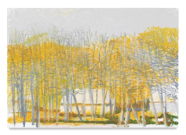 Wolf Kahn, 'Farm Buildings Amid Bare Trees', 2016, Tayloe Piggott Gallery