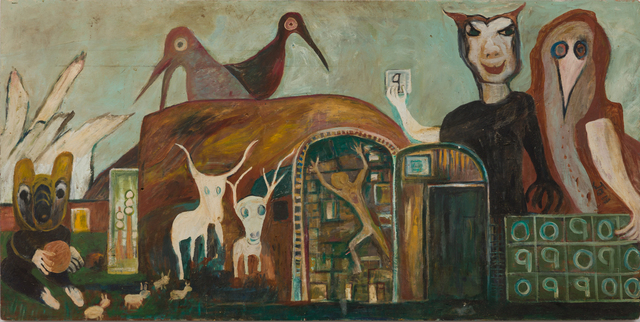 , 'Untitled (White Horned Creatures, Birds, Number Board),' 1975, The Good Luck Gallery