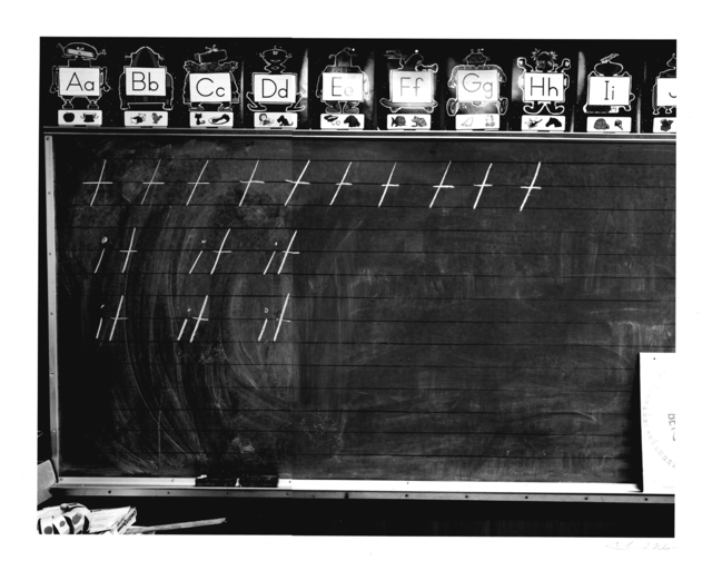 , 'Mass Landing Elementary School, First Grade Classroom,' 1986, Be-hold