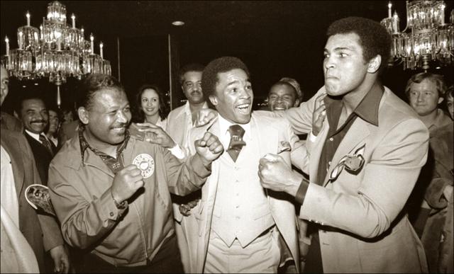 Michael Gaffney, 'Sugar Ray Robinson, Sugary Ray Leonard and The Champ', ca. 1977, Richard Beavers Gallery