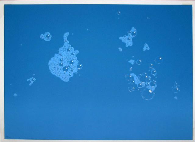 Ed Ruscha, 'Blue Suds', 1971, Print, Screenprint in colors on white Arches paper, Hamilton-Selway Fine Art