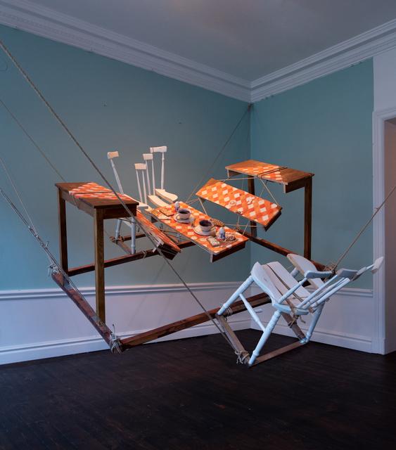 Meta Isaeus-Berlin, 'Frukost 2020', 2020, Installation, Wood, rope, clay, bread, eggshell, CFHILL