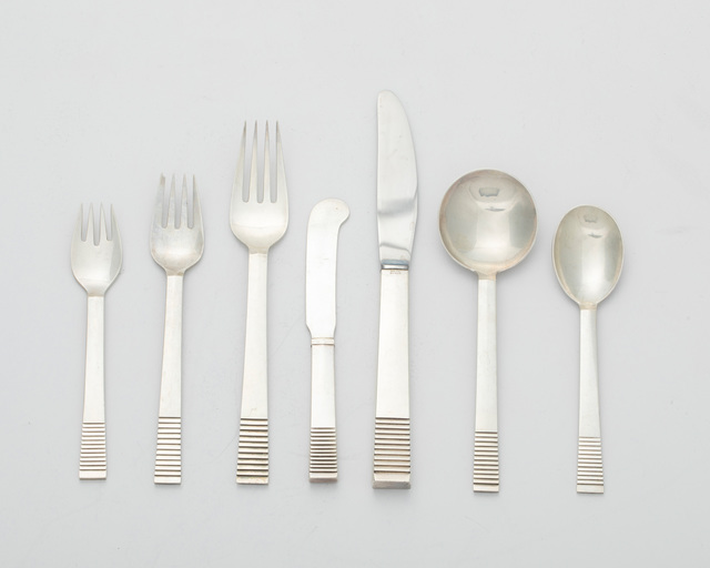 """Georg Jensen, 'A Georg Jensen """"Parallel"""" sterling silver flatware service', John Moran Auctioneers"""