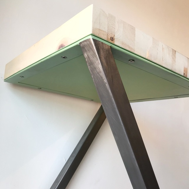 , 'Wood Top Table,' 2018, {9} The Gallery