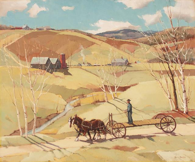 , 'Spring Work Begins,' ca. 1940, Caldwell Gallery Hudson