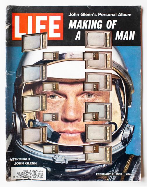 , 'LIFE Cutout No. 143 (February 2, 1962, John Glenn TV),' 2018, Luis De Jesus Los Angeles