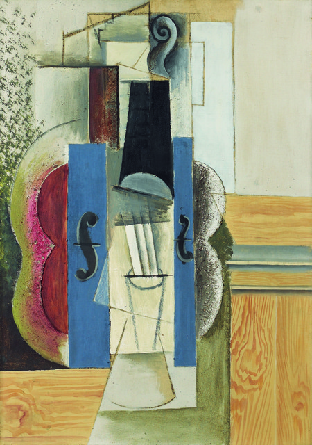 , 'Geige, an der Wand hängend (Violin Hanging on the Wall) ,' 1913, Kunstmuseum Bern