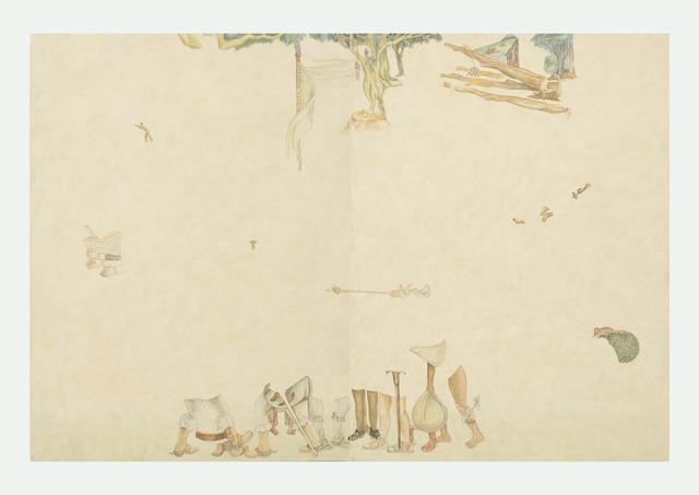 , 'Díptico 2. Fragmentos de la llegada de Hernán Cortés (Diego Rivera),' 2016, Proyecto Paralelo