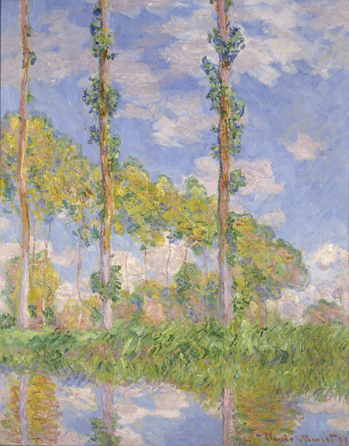 , 'Poplars in the Sun,' 1891, The National Gallery, London