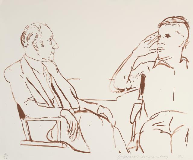 David Hockney, 'Bill and James I, 1980', 1995, Marlborough