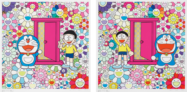 Takashi Murakami, 'Anywhere Door (Dokodemo Door) in the Field of Flowers; and We Came to the Field of Flowers Through Anywhere Door (Dokodemo Door)', 2019, Phillips