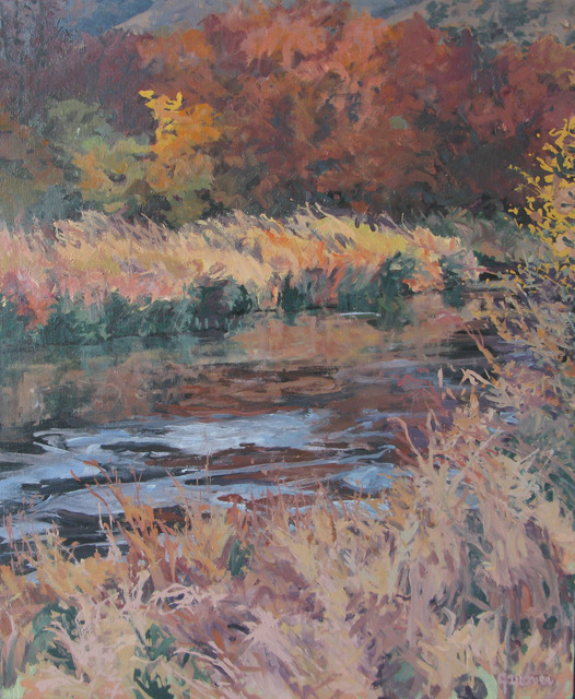 Sheila Gardner, 'Copper Light at Silver Creek', Painting, Oil on canvas, Gail Severn Gallery