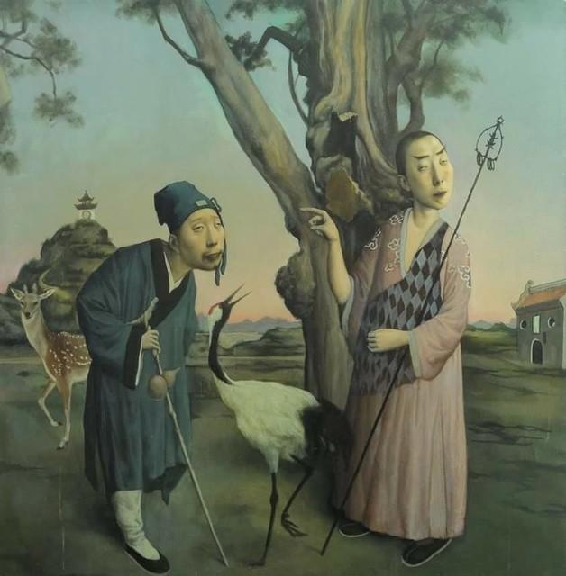 , 'Buddhist Monk and Taoist Monk,' 2019, ARCADIA CONTEMPORARY