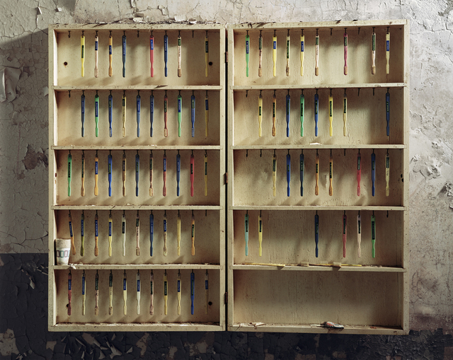 , 'Patient Toothbrushes, Hudson River State  Hospital, Poughkeepsie, New York,' 2005, Benrubi Gallery