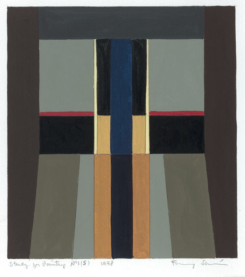 , 'Study for Painting No. 1 (5),' 1998, Leon Tovar Gallery