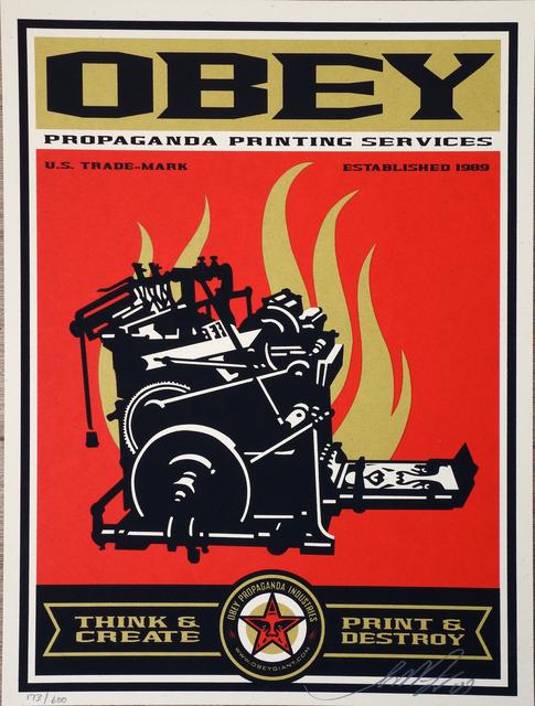 Shepard Fairey, 'Propaganda printing ', AYNAC Gallery
