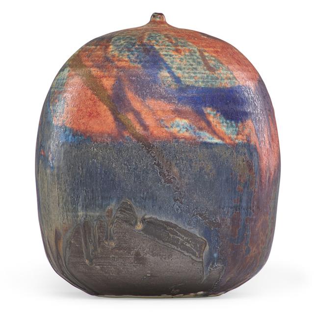 Toshiko Takaezu, 'Multicolored form with rattle, USA', Rago