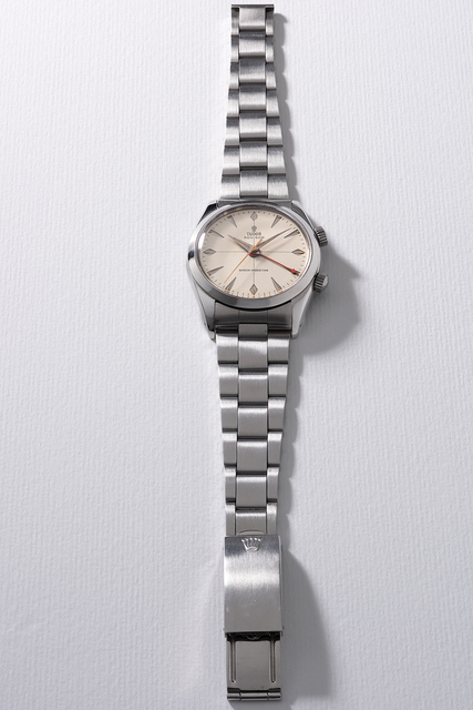 Tudor, 'A fine and rare stainless steel wristwatch with sweep center seconds, alarm and bracelet', Circa 1958, Phillips