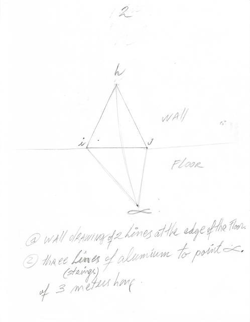 , 'Instrucciones para Situación de un triángulo en dirección al alfa,' 2018, Herlitzka + Faria