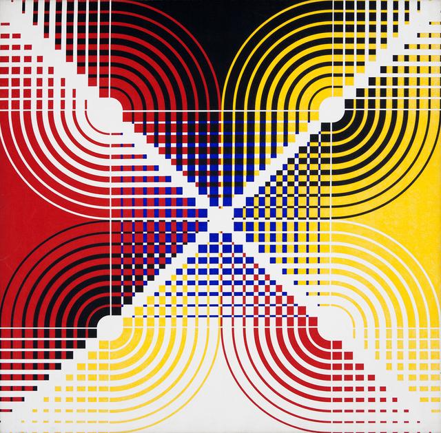 , 'Progressões Crescentes e Decrescentes com Curvas,' ca. 1990, Galeria Frente