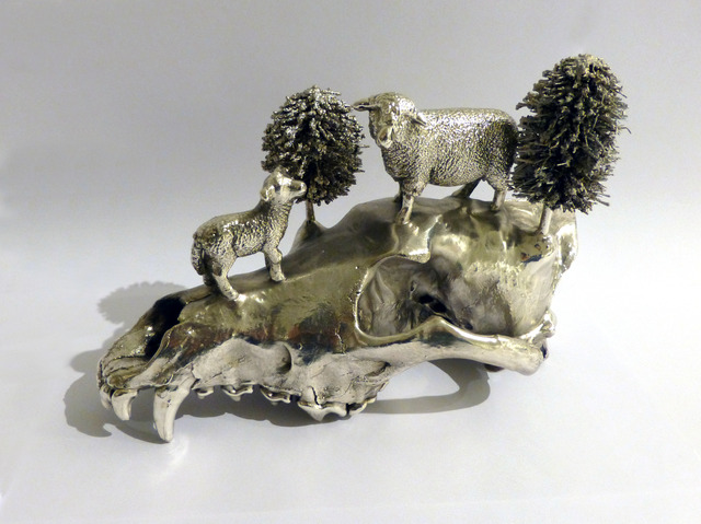 , 'Silverplated Wolf Skull,' 2012, Galleri S.E