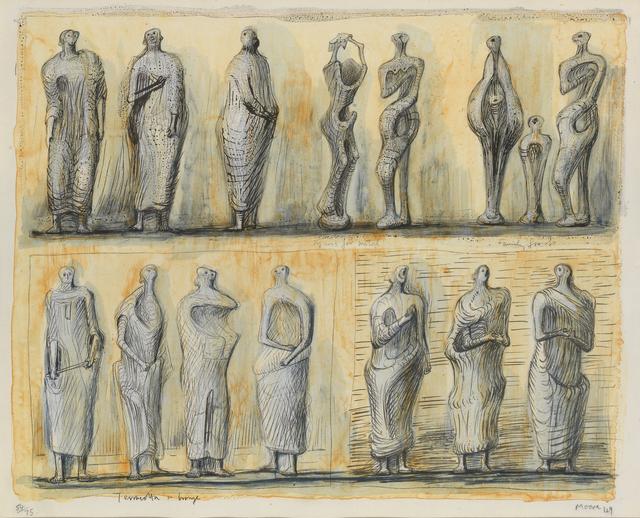 , 'Standing Figures,' 1949, Osborne Samuel