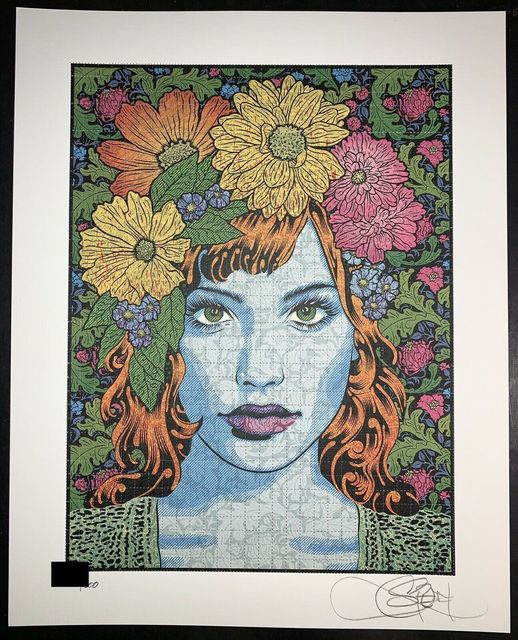Chuck Sperry, 'Chuck Sperry Empathy Blotter Edition Signed & Numbered Contemporary Art Portrait', 2021, Print, Blotter Paper with Oil Based Ink's, New Union Gallery