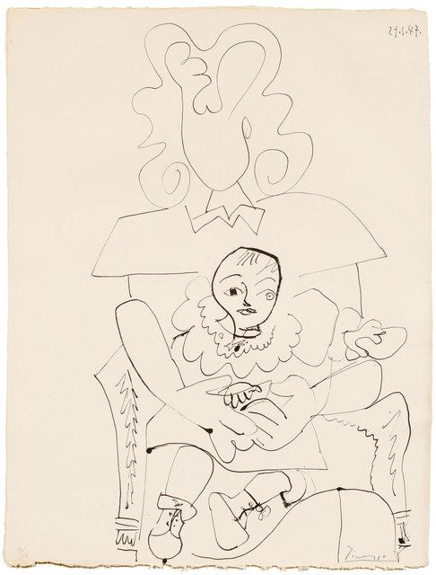 Pablo Picasso, 'Inès et son enfant', 1947, Koller Auctions