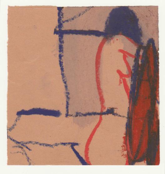 , 'Roter Akt von der Seite mit Lampe,' 1995, Jahn und Jahn