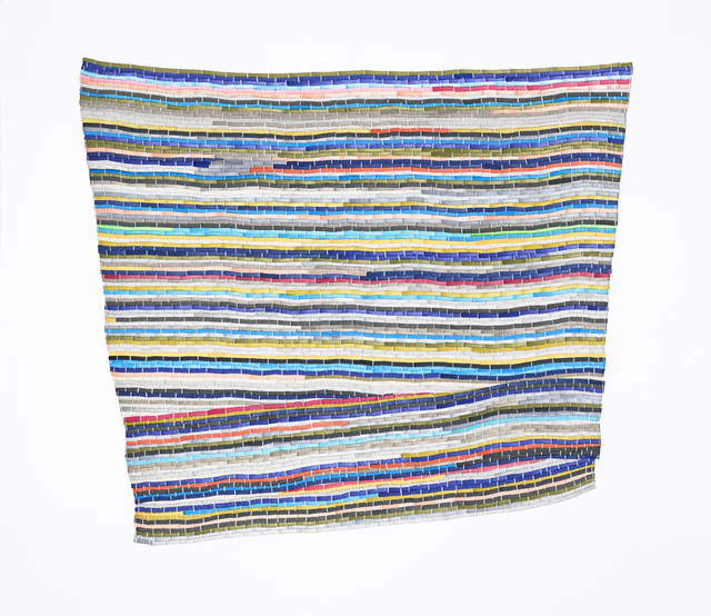 , 'The Second Blue Multi Rag Rug,' 2017, Morgan Lehman Gallery